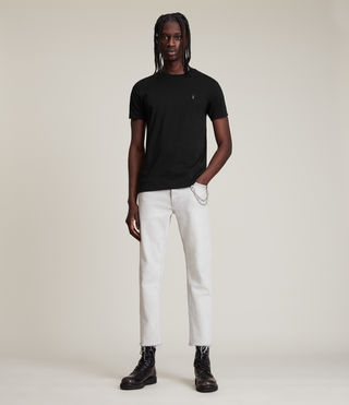 Men's Tonic Crew T-Shirt (Jet Black) - product_image_alt_text_3