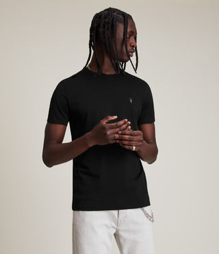 Men's Tonic Crew T-Shirt (Jet Black) - product_image_alt_text_4