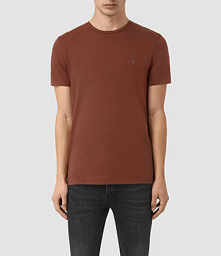 Hombres Tonic Crew T-Shirt (RUST BROWN)