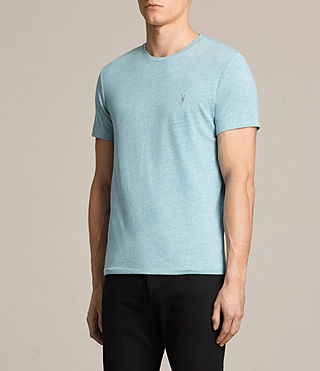 Men's Tonic Ss Crew (AZURE BLUE MARL) - product_image_alt_text_3