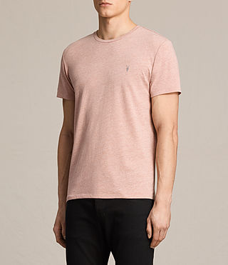 Mens Tonic Crew T-Shirt (CINNAMON RED MARL) - product_image_alt_text_3