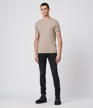 Men's Tonic Crew T-Shirt (SHALE BROWN) - Image 2