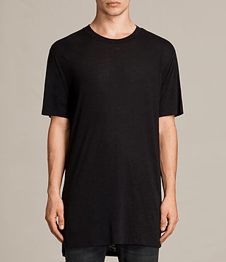 Hommes Towal Crew T-Shirt (Jet Black) -