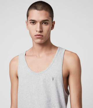 Mens Tonic Tank (Grey Marl) - Image 2