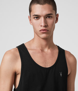 Mens Tonic Tank (Jet Black) - Image 2