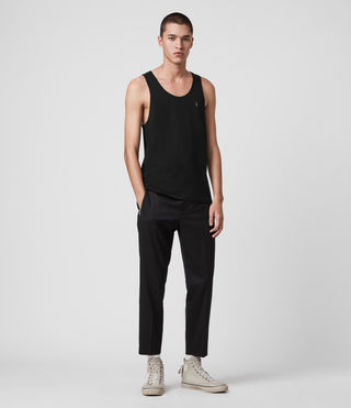 Mens Tonic Tank (Jet Black) - product_image_alt_text_3
