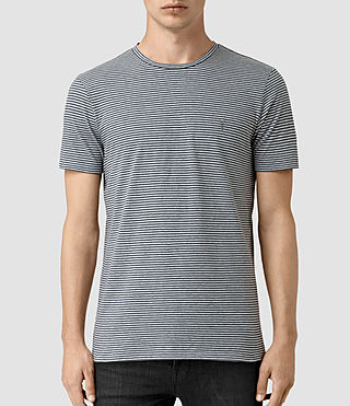 Herren Baltis Tonic Crew T-shirt (GREY MARL/BLUE) -