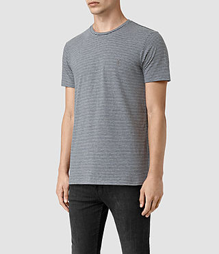 Hommes Baltis Tonic Crew T-shirt (GREY MARL/BLUE) - product_image_alt_text_3