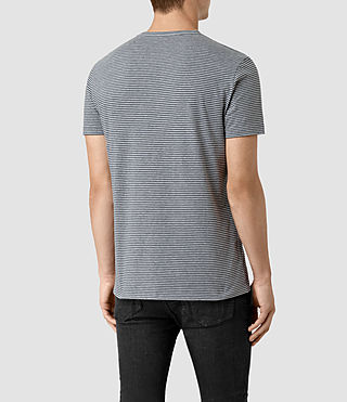 Hommes Baltis Tonic Crew T-shirt (GREY MARL/BLUE) - product_image_alt_text_4
