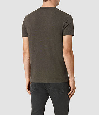 Uomo Baltis Tonic Crew T-Shirt (CHARCOAL MRL/BROWN) - product_image_alt_text_3