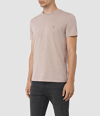 Hombres Baltis Tonic Crew T-Shirt (CHROME/FIG PINK) - product_image_alt_text_2