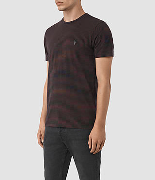 Men's Baltis Tonic Crew T-Shirt (INK/DAMSON RED) - product_image_alt_text_2