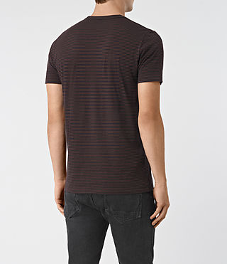 Men's Baltis Tonic Crew T-Shirt (INK/DAMSON RED) - product_image_alt_text_3