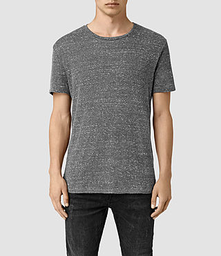 Hombre Hathan Crew T-Shirt (CHARCOAL/CHLK WHT)