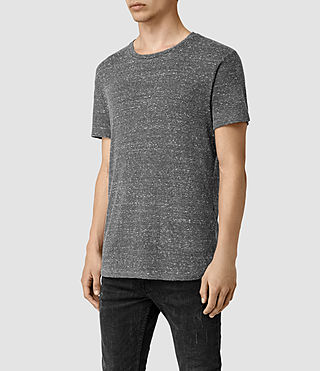 Mens Hathan Crew T-Shirt (CHARCOAL/CHLK WHT) - product_image_alt_text_3