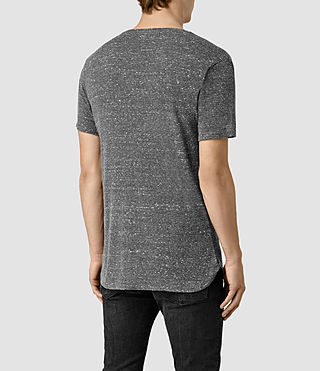 Mens Hathan Crew T-Shirt (CHARCOAL/CHLK WHT) - product_image_alt_text_4