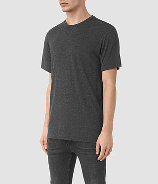 Men's Cedarn Crew T-Shirt (ANTHRACITE MARL) - product_image_alt_text_2