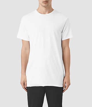 Herren Perrin Crew T-Shirt (Optic White)