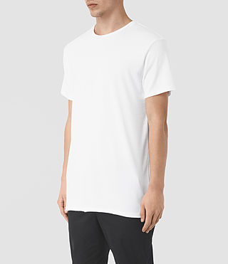 Mens Perrin Crew T-Shirt (Optic White) - product_image_alt_text_2