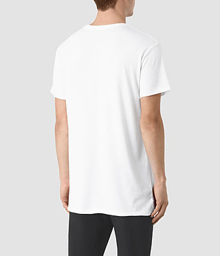 Mens Perrin Crew T-Shirt (Optic White) - product_image_alt_text_3