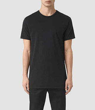 Mens Perrin Crew T-Shirt (Jet Black) - product_image_alt_text_1