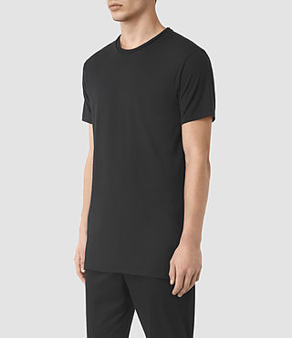 Mens Perrin Crew T-Shirt (Jet Black) - product_image_alt_text_2