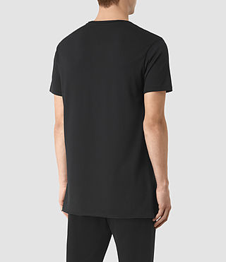 Mens Perrin Crew T-Shirt (Jet Black) - product_image_alt_text_3