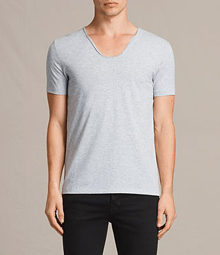 Mens Towus Scoop T-Shirt (Light Grey Marl) - product_image_alt_text_1