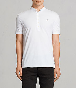 Mens Saints Polo Shirt (Optic White)