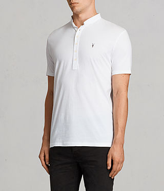 Mens Saints Polo (Optic White) - product_image_alt_text_3