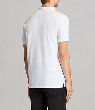 Hombres Saints Polo Shirt (Optic White) - product_image_alt_text_4