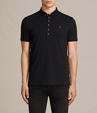 Hommes Saints Polo Shirt (Jet Black)