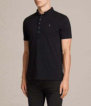 Hombres Saints Polo Shirt (Jet Black) - product_image_alt_text_3