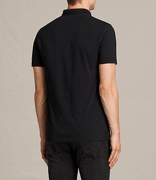 Hombres Saints Polo Shirt (Jet Black) - product_image_alt_text_4