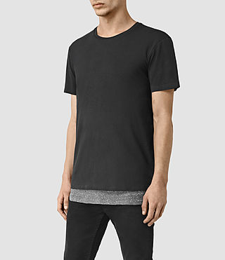 Hombres Jermiah Crew T-Shirt (WashBLACK/CHARCOAL) - product_image_alt_text_3