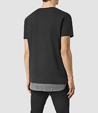 Hommes Jermiah Crew T-Shirt (WashBLACK/CHARCOAL) - product_image_alt_text_4