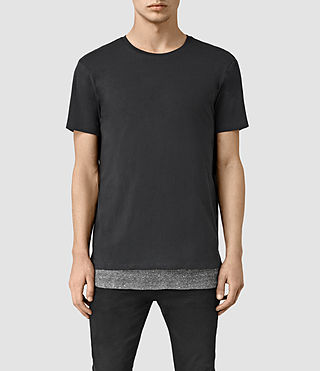 Mens Jermiah Crew T-Shirt (Washed BLK/Charcol) - product_image_alt_text_1