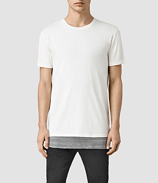 Mens Jermiah Crew T-Shirt (CHALK/GREY MOULINE)