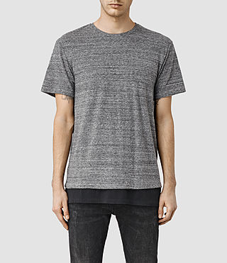 Mens Trouble Crew T-Shirt (Grey Marl/Black)