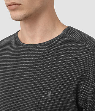 Hommes Naviad Ls Crew (CHARCOAL MARL/GREY) - product_image_alt_text_2