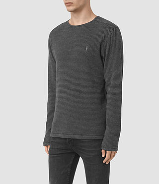 Hommes Naviad Ls Crew (CHARCOAL MARL/GREY) - product_image_alt_text_3