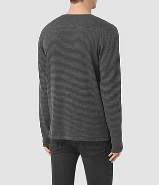 Hommes Naviad Ls Crew (CHARCOAL MARL/GREY) - product_image_alt_text_4
