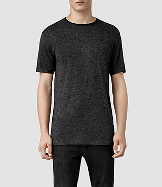 Mens Gendry Crew T-shirt (Charcoal/Black)
