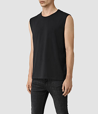 Uomo Mehson Crew T-Shirt (Black) - product_image_alt_text_3