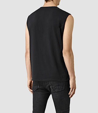 Uomo Mehson Crew T-Shirt (Black) - product_image_alt_text_4
