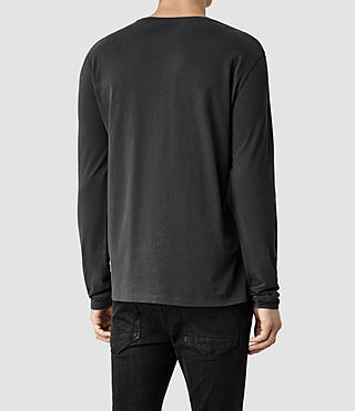Mens Brace Long Sleeved Tonic Crew T-Shirt (Washed Black) - product_image_alt_text_3