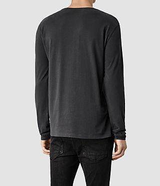 Mens Brace Long Sleeved Tonic Crew T-Shirt (Washed Black) - product_image_alt_text_3