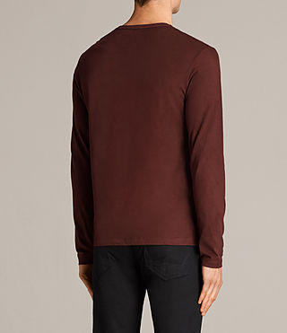 Mens Brace Long Sleeve Tonic Crew T-Shirt (BURNT RED) - Image 4