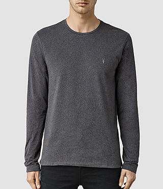 Mens Brace Long Sleeve Tonic Crew T-Shirt (CHARCOALMARL) - product_image_alt_text_1