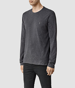Mens Brace Long Sleeve Tonic Crew T-Shirt (CHARCOALMARL) - product_image_alt_text_2